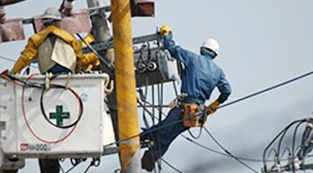 電気工事業、電気通信工事業